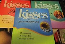 LOT OF 3 BOOKS KISSES OF LOVE, KISSES FROM A FRIEND'S HEART, KISSES OF ENCOURAGE