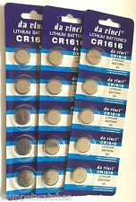 5 x CR1616 BATTERY LITHIUM 3v BUTTON COIN CELL BATTERIES Expiry 12/2018