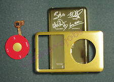 Gold iPod classic U2 back cover + front case+clickwheel kit 80GB 120GB 7th 160GB