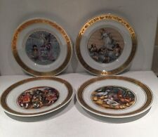 Set Of Four Decorative Plates By Royal Copenhagen Denmark  Hans Christian Anders