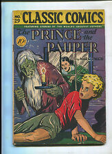 CLASSIC ILLUSTRATED #29 (4.0) THE PRINCE AND THE PAUPER HORROR COVER 1ST EDITION