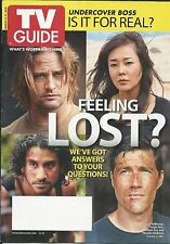 TV Guide magazine Lost Undercover Boss Aaron Paul Life Shannen Doherty Deadwood