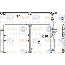 ORIGINAL HELLA Klimaanlage Kondensator Toyota Prius Bj.04- 8FC351304-771