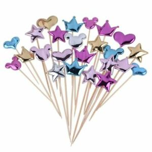 Love Happy Birthday Cake Toppers Crown Stars Cupcake Topper Flags Wedding  Kids