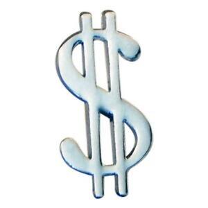 $ Dollar Symbol Money Metal Lapel Pin