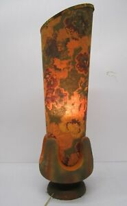 Vtg 1960s MCM Pieri Tullio Table Floor Lamp Light Fixture Floral Psychedelic 36""