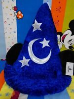 DISNEY Mickey Mouse Ears Sorcerer Hat Wizard Fantasia Moon Stars Plush Gift