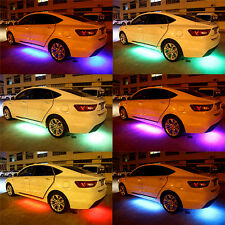 RGB DEL Neon Voiture Tube Bande Lumière-UNDERBODY musique Lampes App Système Pop #