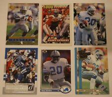 BARRY SANDERS (24) FOOTBALL CARD LOT *Inserts, Base, + Detroit Lions HOF Lot #11