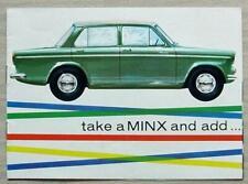 HILLMAN MINX Car ACCESSORIES Sales Brochure #63006A