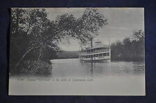 Steamer Cleveland in the Outlet of Chautauqua Lake Postcard