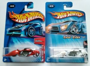 Hot Wheels W-OOZIE x 2, motorcycle, First Editions and Rebel Rides