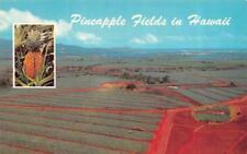 OAHU, HI Hawaii  DOLE PINEAPPLE FIELDS~Aerial  FARM/AGRICULTURE  Chrome Postcard