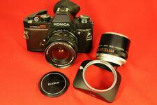 Konica Autoreflex TC camera with Konica Hexanon AR 28mm f/3.5 Lens.