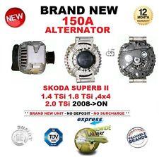 FOR SKODA SUPERB II 3T 1.4 1.8 2.0 TSi 4x4 2008-ON 150A ALTERNATOR OE QUALITY