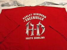 Harley-Davidson of Greenville SC  3XL T-shirt Red winged skull.