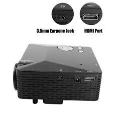 Multimedia LED Projector Pocket Mini LCD HD 1080P AV TV VGA HDMI 500Lumens
