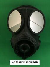 S10 Respirator Rubber Gas Mask Outserts Safety polycarbonate Lenses for Airsoft