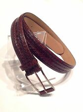 """Mezlan"" Womens Belt,  Brown Genuine Crocodile, Size 27, Made In Spain"