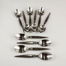 Set 10 LISA JENKS Sasaki Harlequin Stainless Steel Flatware Place Oval Spoon LHL