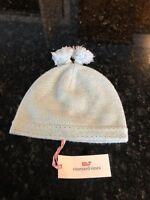 Vineyard Vines Seed Stitch Tassel Hat, Crystal Blue, One Size, Retail $68, NWT