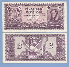 Hungary, 10 million (10000000) b.-pengo, 1946, UNC, P 135