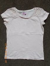NEXT Girls Pale PINK Summer T-shirt Top 100% Cotton Size Age 11 Years PRETTY