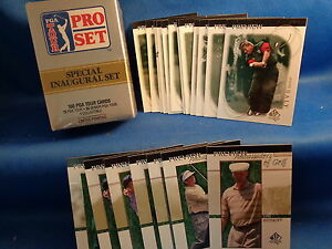 2001 SP AUTHENTIC PGA GOLF PREVIEW (21) CARDS + 1990 PRO SET FACTORY (100) CARDS