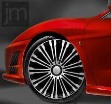 """4 x Radkappen VOLANTE SILVER & BLACK 16 """" Zoll Radzierblenden BMW,AUDI, VW"""