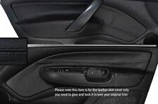 BLACK STITCH 2X FRONT DOOR CARD TRIM SKIN COVERS FITS SKODA OCTAVIA MK2 04-13