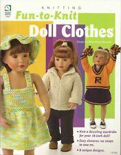 "Fun-to-Knit 18"" Doll Clothes Andrea Knight-Bowman Wardrobe Book HOWB 121038"