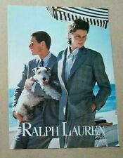 Ralph Lauren Ad 1980s (grey glen plaid suits) Vintage/Magazine/Print/Fashion