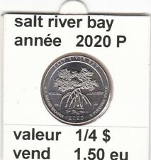 pièces de 1/4 $  salt river bay 2020 P