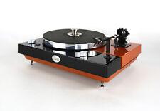 Restaurierter & improvisado Thorens TD 320 bicolor negro-naranja metalizado