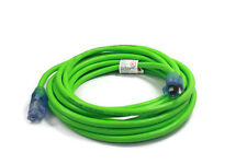 25 ft Extension Cord 3 Plug Lighted 12/3 Gauge Indoor Outdoor Heavy Duty Green