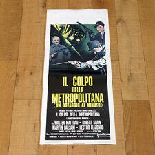 IL COLPO DELLA METROPOLITANA locandina poster Walter Matthau Robert Shaw Y24