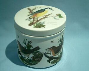 Collectors Portmeirion Birds of Britain lidded storage jar