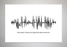 The Smiths - There Is A Light That Never Goes Out - Sound Wave Print Poster Art