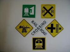 METAL RAILROAD MINI  traffic signs SET of 6 Signs  FREE SHIPPING