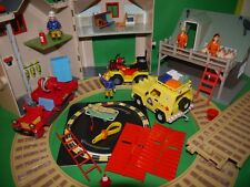 Fireman Sam Deluxe Fire Station & Mountain Lodge Bundle-Figures,Vehicles & more