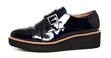 Halogen Emma Monk Strap Women's Navy Patent Leather Oxford Sz 11M 5221