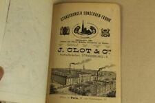 Alte Werbung / Reklameblätter & Stadplan - Straßburg im Elsass - wohl um 1900