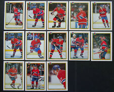 1990-91 Bowman Montreal Canadiens Team Set of 13 Hockey Cards