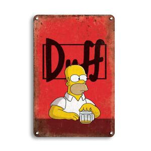 """The Simpsons """"Duff"""" Homer Blechschild 20x30 cm"""