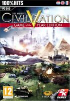 Sid Meier's Civilization V  Game of the Year Edition PC 5 GOTY XP/Vista/7/8/10