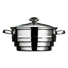 ACCIAIO Inossidabile cibo Steamer GRANDI CASSERUOLA Colino per verdura pentola fumante PAN