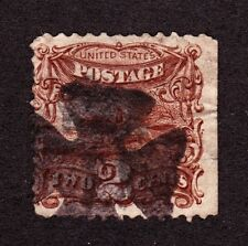 US 113 2c Post Horse and Rider Used w/ Iron Cross Fancy Cancel SCV $90