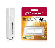 Transcend JetFlash 370 USB flash drive - 16 GB - White