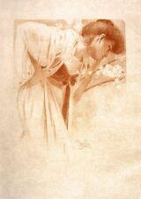 "Melancholy by Alphonse Mucha Art Nouveau Deco 16x11"" Picture Poster Print New"