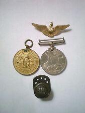 1939-45 Georgvis Rex Medal Fur Dreissigjahrige Dienstzeit Medal Armor Wings Pin